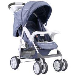 Adamex, Quatro Imola, wózek spacerowy, ciemny niebieski Darmowa dostawa do sklepów SMYK