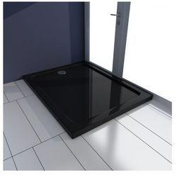 Brodzik prysznicowy prostokątny ABS czarny 70 x 90 cm Zapisz się do naszego Newslettera i odbierz voucher 20 PLN na zakupy w VidaXL!