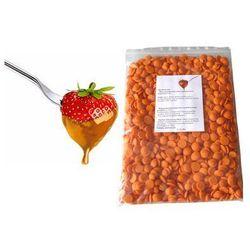 Czekolada pomarańczowa belgijska do fondue oraz fontann | 1 kg