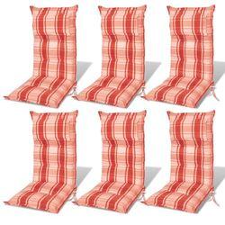 vidaXL Poduszki na krzes?a ogrodowe, fotele, pomara?czowoczerwone, 6 sztuk Darmowa wysy?ka i zwroty