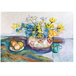 Obraz Wazon z żółtymi kwiatami