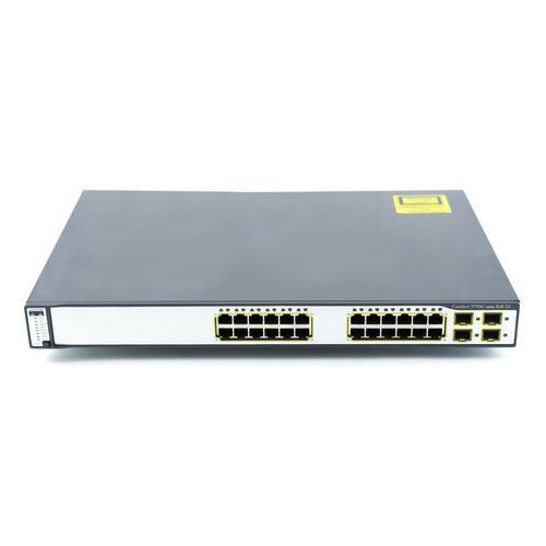WS-C3750G-24PS-S Switch Cisco Catalyst 3750G 24x 1G RJ45, PoE 370W, 4x SFP, IPBase