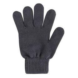 Rękawiczki KLIPPA cienka włóczka bawełniana grafitowe - ostatnia para