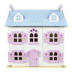 Drewniany domek dla lalek - pastelowa rezydencja