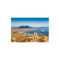 Foto naklejka samoprzylepna 100 x 100 cm - Widok z lotu ptaka Neapolu (Napoli) z mt Wezuwiusza o zachodzie słońca, włochy
