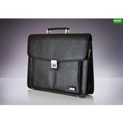 Skórzana męska aktówka, torba na laptop Verso Business Expanded