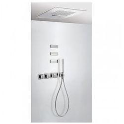 Zestaw natryskowy z baterią termostatyczną Tres i 3 dyszami, deszczownica sufitowa 20725402