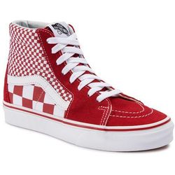 Sneakersy VANS Sk8 Hi VN0A38GEVK51 (Mix Checker) CHili PepperTrue White