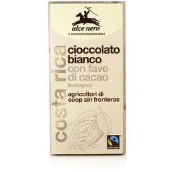 Czekolada biała z kawałkami kakao BIO 100g