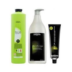 LOREAL INOA, Zestaw: farba + oxydant + szampon 4,26