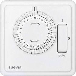 Wyłącznik czasowy Suevia 248.024.9.084, 2200 W 10 A, Program dniowy, IP20, (SxWxG) 82 x 82 x 47 mm