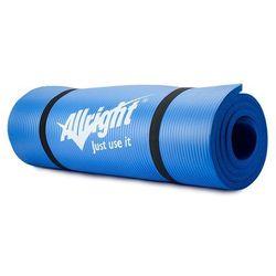 Mata fitness NBR 1,5 cm grubości, 140 cm długości (niebieska) Allright