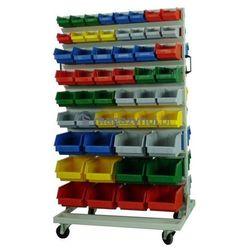 Wózek do pojemników warsztatowych, wym. 1620 x 920 x 695 mm - 24 pojemniki (Pojemniki z pojemnikami)