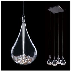 LAMPA wisząca PERLE P0226-04S Zumaline kryształowa OPRAWA ŻYRANDOL przezroczysty