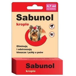 Krople przeciw pchłom i kleszczom dla psów - Sabunol