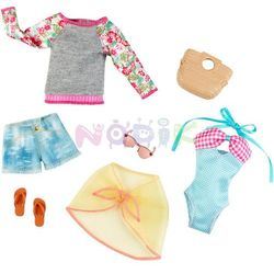 Barbie dwupak ubranek Mattel (plażowe)