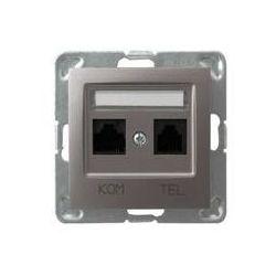 Gniazdo komputerowo - telefoniczne, MMC Ospel Impresja - Tytan - GPKT-Y/K/m/23