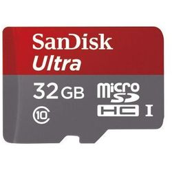 Sandisk microSDHC 32 GB Ultra 80MB/s C10 UHS-I + adapter SD + Memory Zone Android