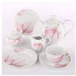 Zestaw kawowy dla 12 osób porcelana Ćmielów Yvonne Magnolia G143