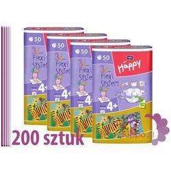 Bella Happy 4+ MAXI Plus Pieluszki 4 x 50 sztuk
