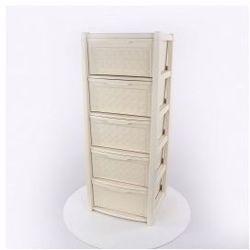 Regał szafka komoda Arianna 5 szuflad krem