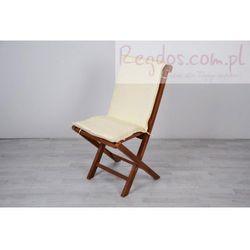 Kremowa poduszka na krzesło ogrodowe