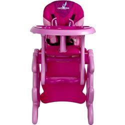 Krzesło do karmienia CARETERO ze stoliczkiem Primus różowy