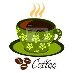 Naklejka Zielona kawa na parze