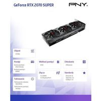 PNY Karta graficzna GeForce RTX2070 Super 8GB Triple Fan VCG20708STFMPB-O
