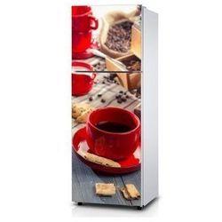 Naklejka na lodówkę - Czerwona kawa - Naklejka laminowana