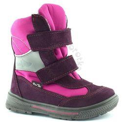 b413e32e39882 Śniegowce dla dzieci z membraną Renbut 22-3216 - Różowy   Fioletowy Obuwie  zimowe