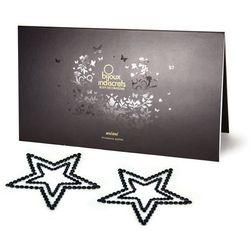 Diamentowe ozdoby na sutki i ciało - Bijoux Indiscrets Mimi gwiazda czarna