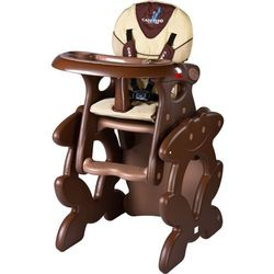 Krzesło do karmienia CARETERO ze stoliczkiem Primus brązowy