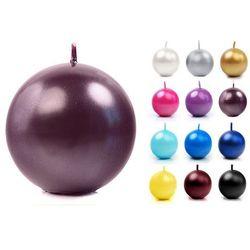 Świeca kula metalik fi80 x 6szt / r. kolory