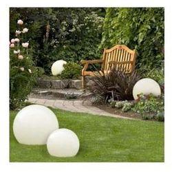 Zewnętrzna LAMPA stojąca GAJA 500/l Light Prestige dekoracyjna OPRAWA ogrodowa outdoor IP55 kula ball biały