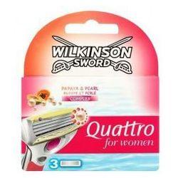 Wilkinson Quattro For Women Papaya & Pearl (W) wkłady do maszynki do golenia 3 szt
