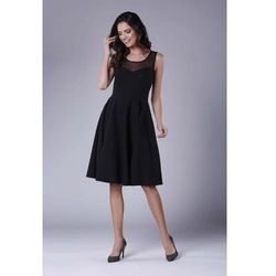 f89e4c574e suknie sukienki czarna sukienka midi z kimonowym dlugim rekawem (od ...