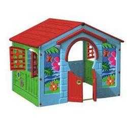 Domek dla dzieci Marian Plast - HAPPY House kolorowy, wiejski Zielony