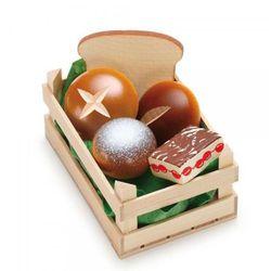 Zestaw drewnianych bułek i chlebków do zabawy w sklep - zabawki dla dzieci