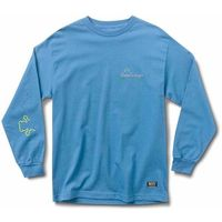 koszulka GRIZZLY - Stay Lit L/S Tee Pacific Blue (PBLU)