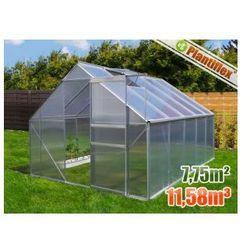 Szklarnia ogrodowa 7,75 m kw. - 250 x 310 cm - szklarnie aluminium + poliwęglan UV