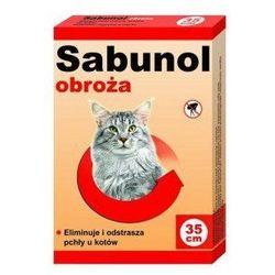 Sabunol obroża czerwona przeciw pchłom i kleszczom kot 35 cm