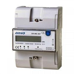 3-fazowy wskaźnik zużycia energii elektrycznej, 3x20(120)A ORNO
