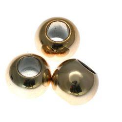 Koraliki Przekładki Akrylowe Kula Platerowane Kc Gold Złoty 20mm 20szt