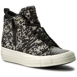 Trampki CONVERSE - Ctas Selene Winter Knit Mid 553355C Black/Light Gold/Gret