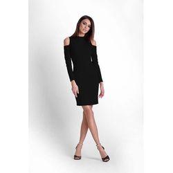 d2e1385e19 suknie sukienki sukienka rozkloszowana tiulowa z gipiura czarna ...