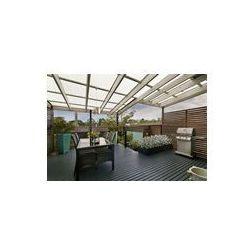 Foto naklejka samoprzylepna 100 x 100 cm - Backyard przytulne patio z zestawem mebli z wikliny