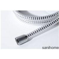 SPYRO Wąż prysznicowy plastikowy spiralny 150 cm chrom/biały 11030