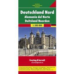 Niemcy północne 1:500 000. Mapa samochodowa, składana. Freytag & Berndt (opr. twarda)