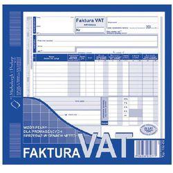 Faktura VAT-wzór pełny dla prowadzących sprzedaż w cenach netto 2/3 A4 oryginał + kopia